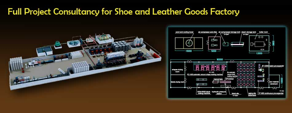 Full Project consultancy for shoe and leather goods factory